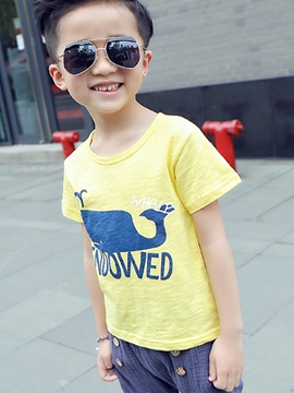 Ericdress Cartoon Print Boys T-Shirt