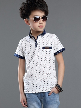 Ericdress Polka Dots Patchwork Lapel Boys Outfits