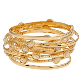 Golden Multi-Layer Alloy Bracelet