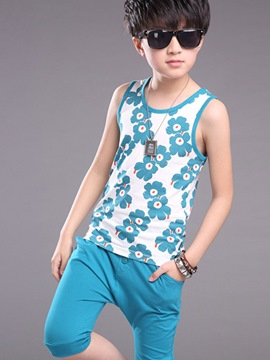 Ericdress Print Pocket Suspenders Boys Outfits