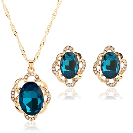 Two-Piece Glass Jewelry Set