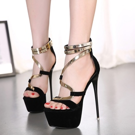 Ericdress Sexy Metal Stiletto Sandals