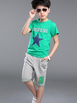 Ericdress Print Color Block Simple Boys Outfits