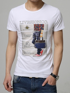 Ericdress Short Sleeve Slim Fit Men's T-Shirt