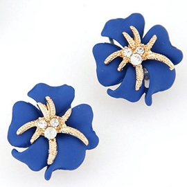 Riches and Honour Flowers Starfish Earrings