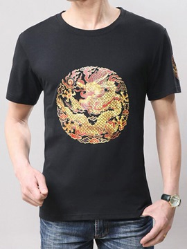 Ericdress China Style Short Sleeve Print Men's T-Shirt