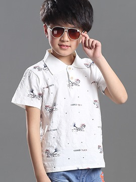 Ericdress Short Sleeve Boys Polo T-Shirt