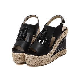 Ericdress All Match Tassels Wedge Sandals