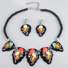 Black National Style Jewelry Set