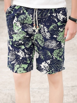 Ericdress Loose Printed Vintage Casual Men's Shorts