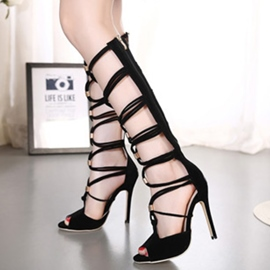 Ericdress Roman Cut Out Lace up Stiletto Sandals