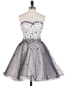 Ericdress a-line Sweetheart Sicke Mini Lace Up Homecoming Kleid
