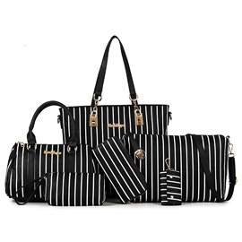 Ericdress Trendy Stripe Pattern Handbags(6 Bags)