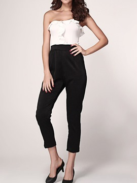 Ericdress Elegant Frill Cold Shoulder Jumpsuits Pants
