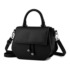 Ericdress Pure Color Tassel Saddle Handbag