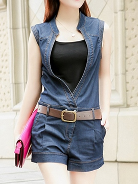 Ericdress Denim Jumpsuits Pants Suit