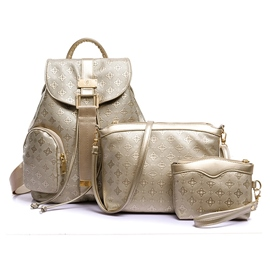 Ericdress Vogue Grained Embossed Handbags(3 Bags)