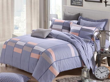 Ericdress Simple Geometric Cotton Bedding Sets