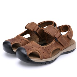 Ericdress Velcro Hollow Round Toe Cross Strap Men's Sandals