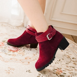Ericdress Super Ankle Boots with Buckles