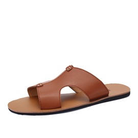 Ericdress Solid Color Pu Men's Sandals