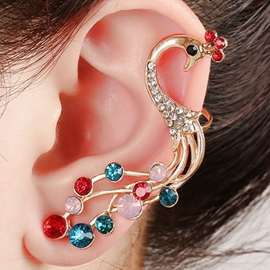 Color Peacock Ear Cuff