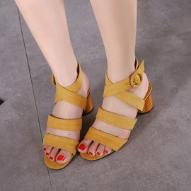 Ericdress Korean Cross Band Buckles Chunky Sandals