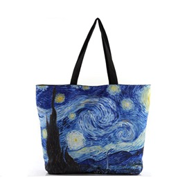 Ericdress Galaxy Oil Painting Print Tote Bag