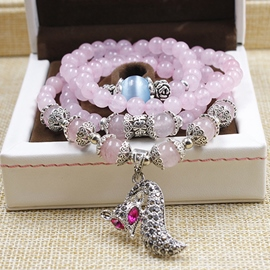 Multilayer Beaded Crystal Bracelet