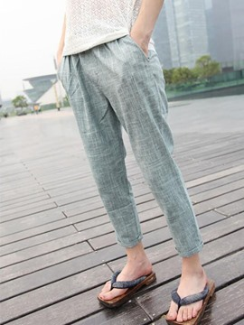 Ericdress Casual Linen Loose Men's Pants