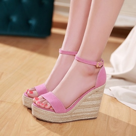 Ericdress Open Toe Plain Platform Wedge Sandals