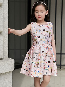 Ericdress Cartoon Sleeveless Girls Dress