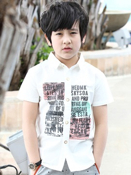 Ericdress Print Short Sleeve Boys Shirt