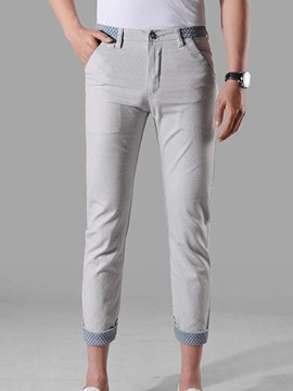 Ericdress Straight Slim Fit Men's Pants
