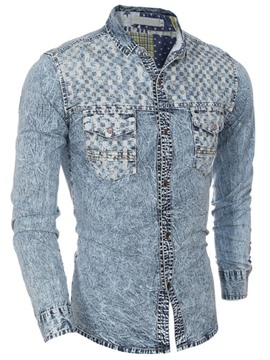 Ericdress Long Sleeve Denim Men's Shirt