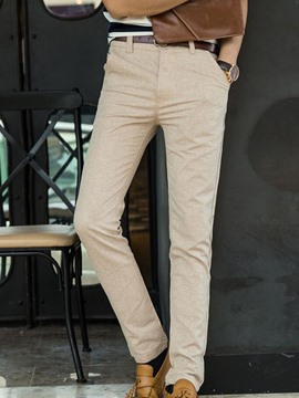 Ericdress Plain Straight Slim Fit Men's Pants