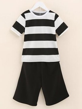 Ericdress Color Block Strips Boys Outfits
