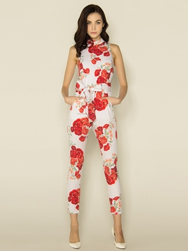 Ericdress Elegant Flower Print Jumpsuits Pants