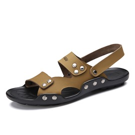 Ericdress Studded PU Slingback Men's Sandals