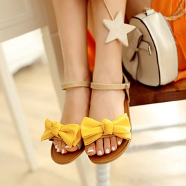 Ericdress Fresh Bowtie Flat Sandals