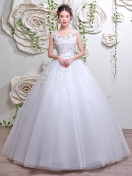 Ericdress Beautiful V Neck Ball Gown Wedding Dress