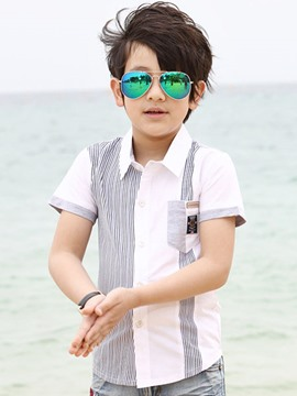 Ericdress Stripe Short Sleeve Boys Shirt