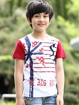 Ericdress Letter Stripe Print Boys T-Shirt