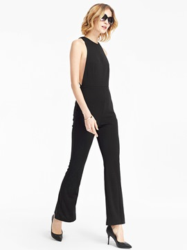 Ericdress Solid Color Euro-American Style Jumpsuits Pants