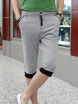 Ericdress Color Block Half Leg Men's Shorts