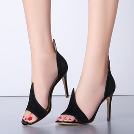 2016 Black Stiletto Sandals
