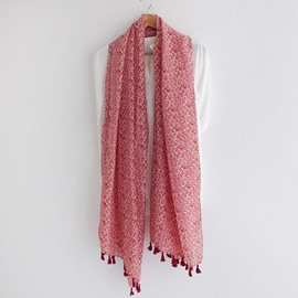 Cotton Long Tassel Scarf