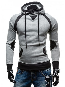 Ericdress Pullover Color Block Slim Men's Hoodie