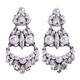 White Pearl Big Earrings