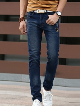 Ericdress Stretched Casual Slim Fit Denim Men's Jeans